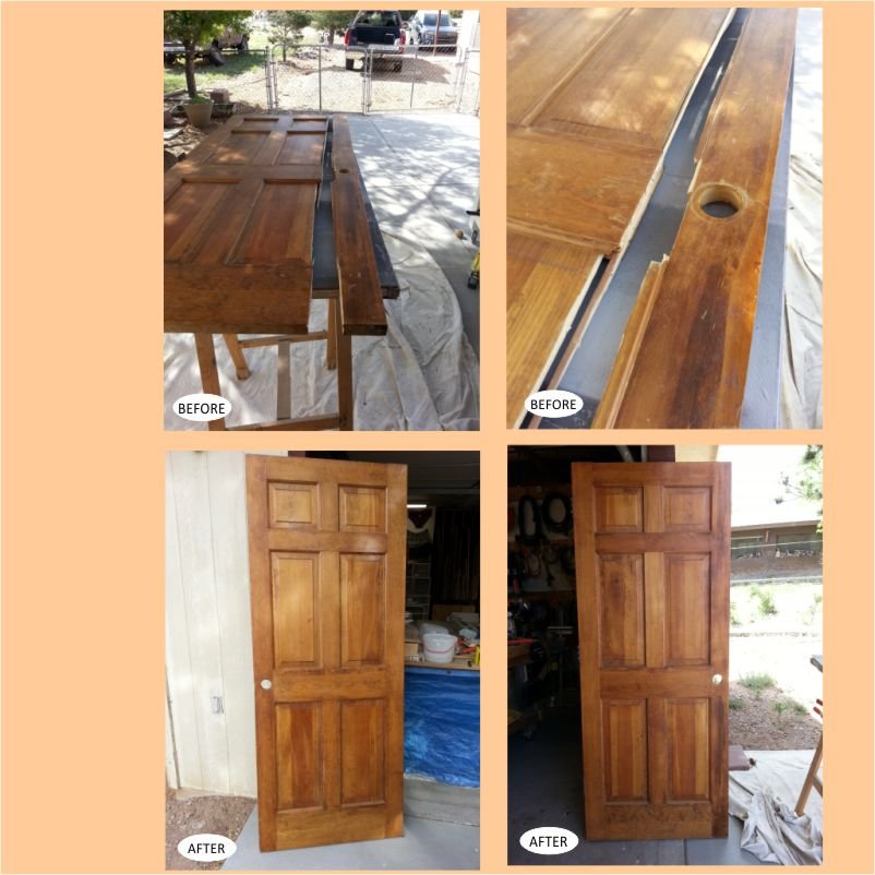 6- Paneled Door Repaired