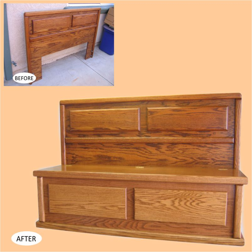 Headboard Storage Bench